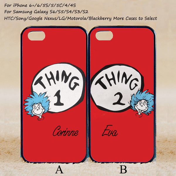 low priced 558c6 6d404 Thing 1 and Thing 2 Couple Case,Custom Case,iPhone 6+/6/5/5S/5C/4S/4