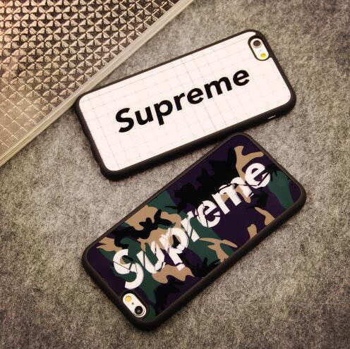 Supreme couple mobile phone case for iphone 5 5s SE 6 6s 6plus 6s plus Nice gift box