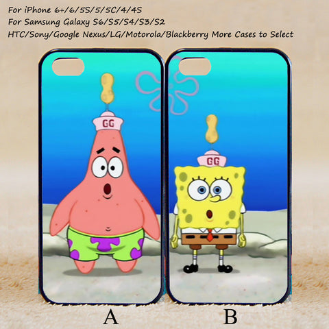 iPhone 7 7plus - Spongebob and Patrick Best Friend,Couple Case,Custom Case,iPhone 6+/6/5/5S/5C/4S/4