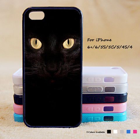 Black Cat Phone Case For iPhone 6 Plus For iPhone 6 For iPhone 5/5S For iPhone 4/4S For iPhone 5C iPhone X 8 8 Plus