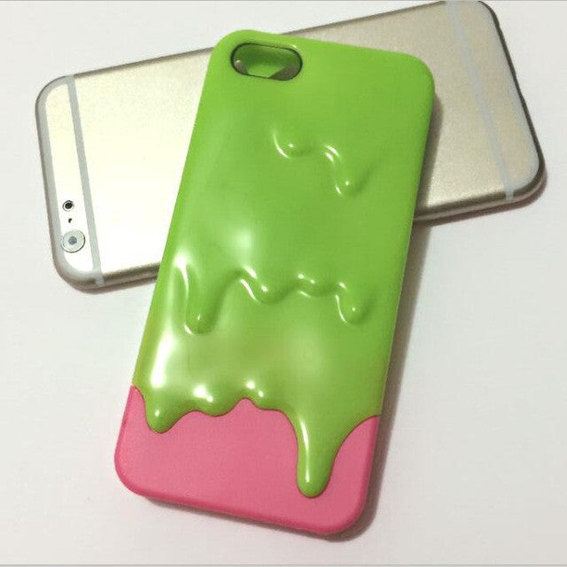 reputable site 308bc 4e26e 5/5S SE '' Hot!! Cute 3D Melt Ice Cream Back Cover Skin Cases For iPhone 5  5S Case For IPhone5S/5 Protection Phone Shell Top!!-04410