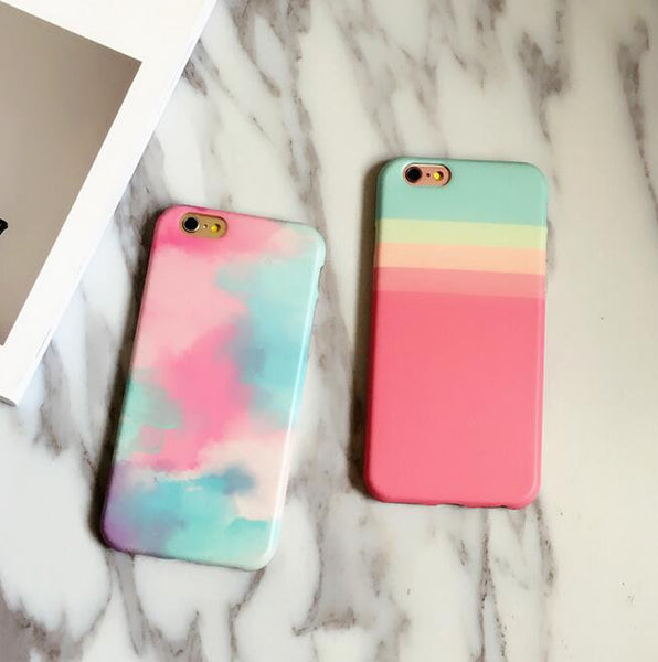 timeless design ed6e6 a5fae Cute girls in colorful world phone case for iPhone 7 7 plus iphone 6 6s 6  plus 6s plus + Nice gift box 080902