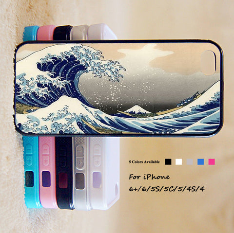 Great Wave Off Kanagawa Case For iPhone 6 Plus For iPhone 6 For iPhone 5/5S For iPhone 4/4S For iPhone 5C