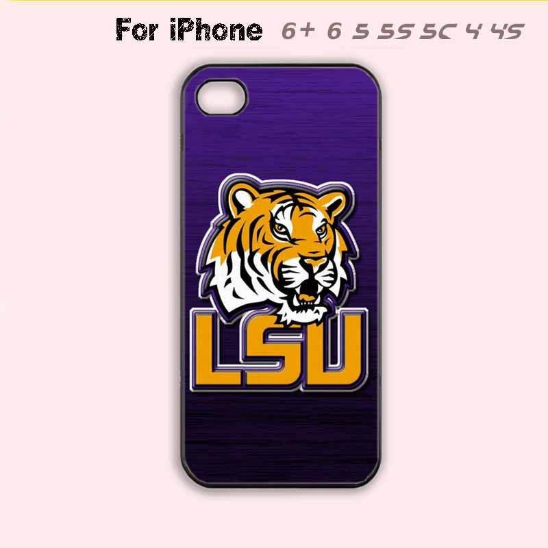 promo code 78f54 a6e18 LSU Tigers College Football Purple Phone Case For iPhone 6 Plus For iPhone  6 For iPhone 5/5S For iPhone 4/4S For iPhone 5C-5 Colors Available