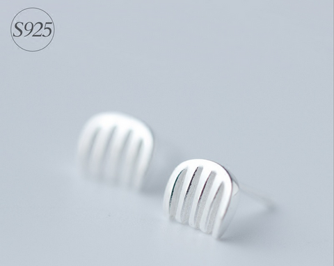 925 Sterling Silver cute comb earrings,little comb earrings with gift box