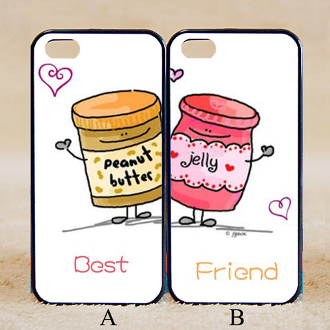 Couples Matching Best Friends Peanut Butter and Jelly,iPhone 6+/6/5/5S/5C/4S/4