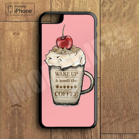 Wake Up Coffee Plastic Case iPhone 6S 6 Plus 5 5S SE 5C 4 4S Case Ipod Touch 6 5 4 Case iPhone X 8 8 Plus