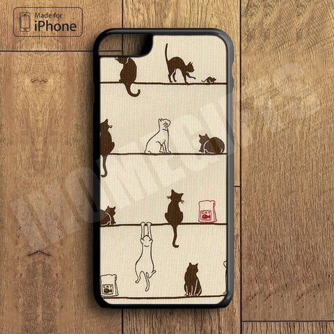Lots of Little Cute Cat Plastic Case iPhone 6S 6 Plus 5 5S SE 5C 4 4S Case Ipod Touch 6 5 4 Case iPhone X 8 8 Plus