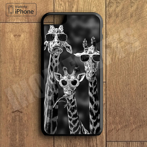 Little Cute Giraffe With Sunglasses  Plastic Case iPhone 6S 6 Plus 5 5S SE 5C 4 4S Case Ipod Touch 6 5 4 Case