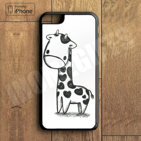 Little Cute Giraffe Plastic Case iPhone 6S 6 Plus 5 5S SE 5C 4 4S Case Ipod Touch 6 5 4 Case