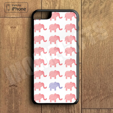 Lots of Cute Pink Elephant  Plastic Case iPhone 6S 6 Plus 5 5S SE 5C 4 4S Case Ipod Touch 6 5 4 Case