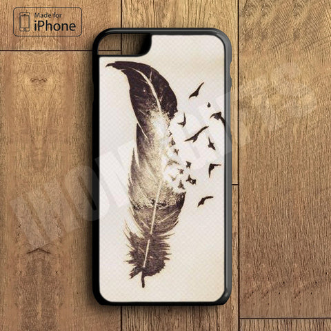 Tattoo Feather Plastic Phone Case For iPhone 6 Plus More Style For iPhone 6/5/5s/5c/4/4s iPhone X 8 8 Plus
