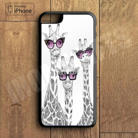 Cute Giraffe with Sunglass Plastic Phone Case For iPhone 6 Plus More Style For iPhone 6/5/5s/5c/4/4s iPhone X 8 8 Plus