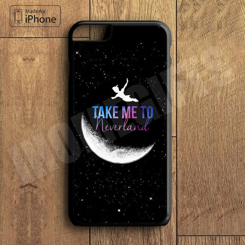 Peter Pan Take me to neverland  Plastic Phone Case For iPhone 6 Plus More Style For iPhone 6/5/5s/5c/4/4s iPhone X 8 8 Plus