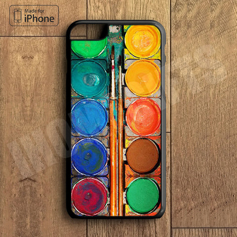 Water Painting  Color Box Plastic Case iPhone 6S 6 Plus 5 5S SE 5C 4 4S Case Ipod Touch 6 5 4 Case iPhone X 8 8 Plus