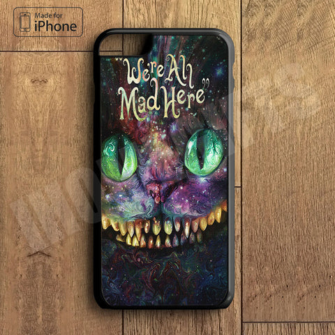 Alice Wonderland And Cheshire Cat Plastic Case iPhone 6S 6 Plus 5 5S SE 5C 4 4S Case Ipod Touch 6 5 4 Case