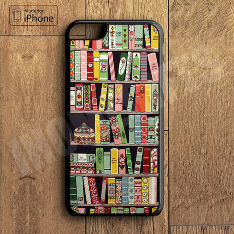 Book Library Plastic Case iPhone 6S 6 Plus 5 5S SE 5C 4 4S Case Ipod Touch 6 5 4 Case iPhone X 8 8 Plus