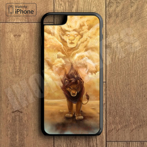 King of Lion  Plastic Case iPhone 6S 6 Plus 5 5S SE 5C 4 4S Case Ipod Touch 6 5 4 Case iPhone X 8 8 Plus