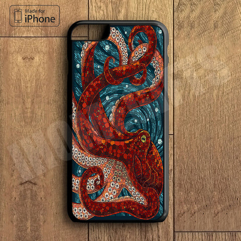 Octopus Plastic Case iPhone 6S 6 Plus 5 5S SE 5C 4 4S Case Ipod Touch 6 5 4 Case iPhone X 8 8 Plus