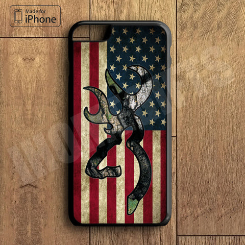 Browning Deer Camo American Flag Plastic Case iPhone 6S 6 Plus 5 5S SE 5C 4 4S Case Ipod Touch 6 5 4 Case iPhone X 8 8 Plus