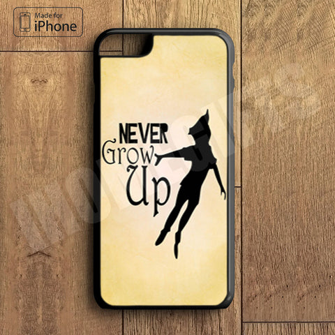 Never Grow Up Plastic Case iPhone 6S 6 Plus 5 5S SE 5C 4 4S Case Ipod Touch 6 5 4 Case iPhone X 8 8 Plus