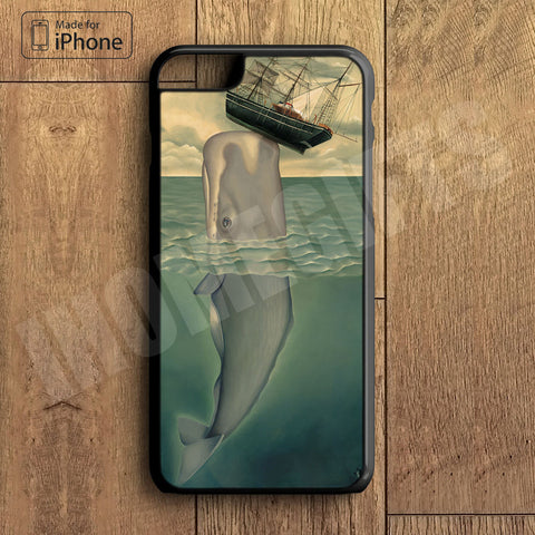 Whale Painting Plastic Case iPhone 6S 6 Plus 5 5S SE 5C 4 4S Case Ipod Touch 6 5 4 Case iPhone X 8 8 Plus