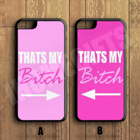 Funny BFF Best Friend Pink Cute Couple Case,Custom Case,iPhone 6+/6/5/5S/5C/4S/4