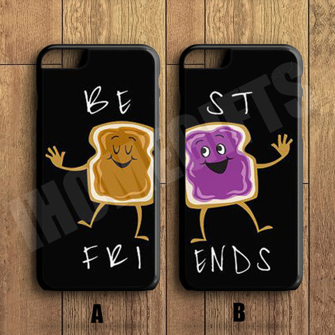 Best Friends Forever Couple Case,Peanut butter and Jelly Couple Case,iPhone 6+/6/5/5S/5C/4S/4