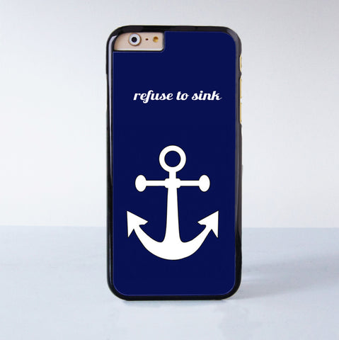 White anchor on Blue text word quote Plastic Phone Case For iPhone 6  More Style For iPhone 6/5/5s/5c/4/4s iPhone X 8 8 Plus