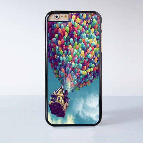 Flying ballons Up  Plastic Phone Case For iPhone 6  More Style For iPhone 6/5/5s/5c/4/4s iPhone X 8 8 Plus