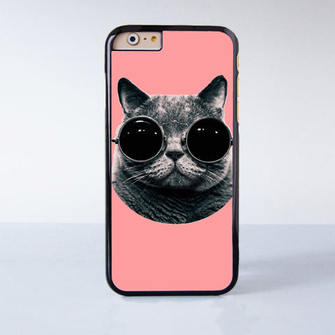Cute Cat with Sunglasses Plastic Phone Case For iPhone 6  More Style For iPhone 6/5/5s/5c/4/4s iPhone X 8 8 Plus