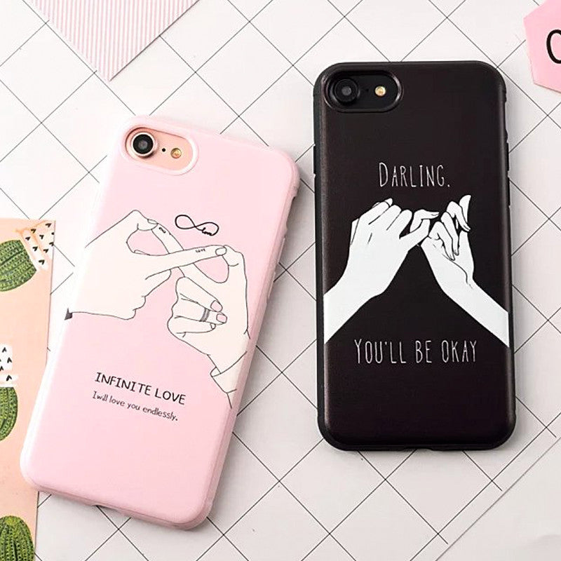 Fashion Funny Letter Case For iphone 7 Case For iphone7 7 PLus 6 6S Back Cover Cute Cartoon Smile Couples Phone Cases Capa Coque -iHomegifts