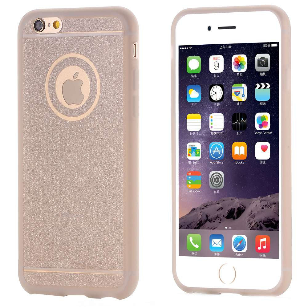 FLOVEME Glitter Powder Soft Silicone TPU Case For iPhone 6 6s Plus 5 5s SE Ultra Slim Bling Shining Rubber Protective Back Cover