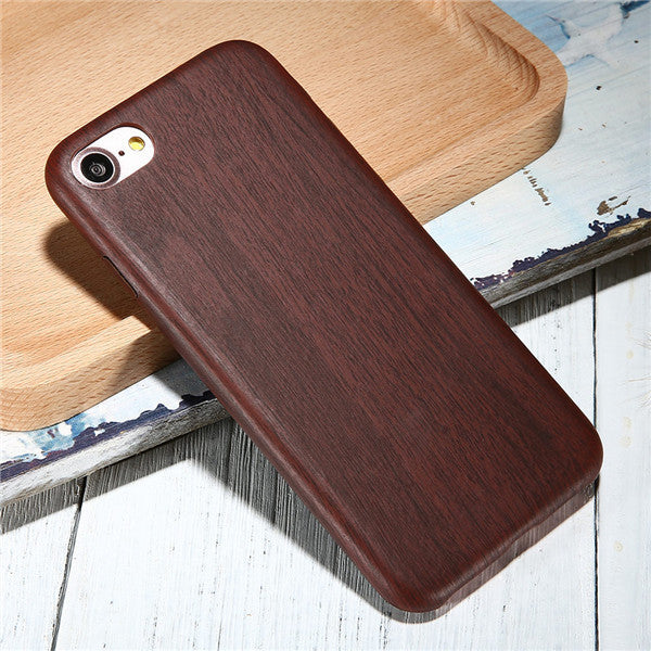 official photos 22e66 29664 Vintage Wood PU Leather Back Cover Cases For Iphone 7 7Plus 6 Plus Wooden  Bamboo Pattern Phone Cases For Iphone7 Plus 6S Iphone5 -0316