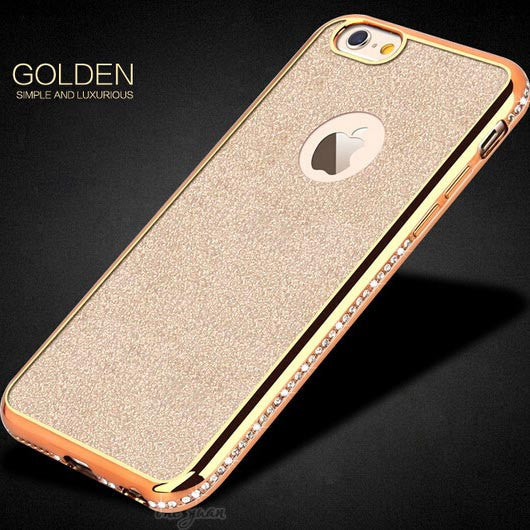 sports shoes c1bdd d1e11 Glitter Bling Plating Diamond Cover For iphone 6 Case For iphone 6S 6 Plus  5 5S SE Luxury Rhinestone Phone Cases Soft TPU Coque-004-05-iHomegifts