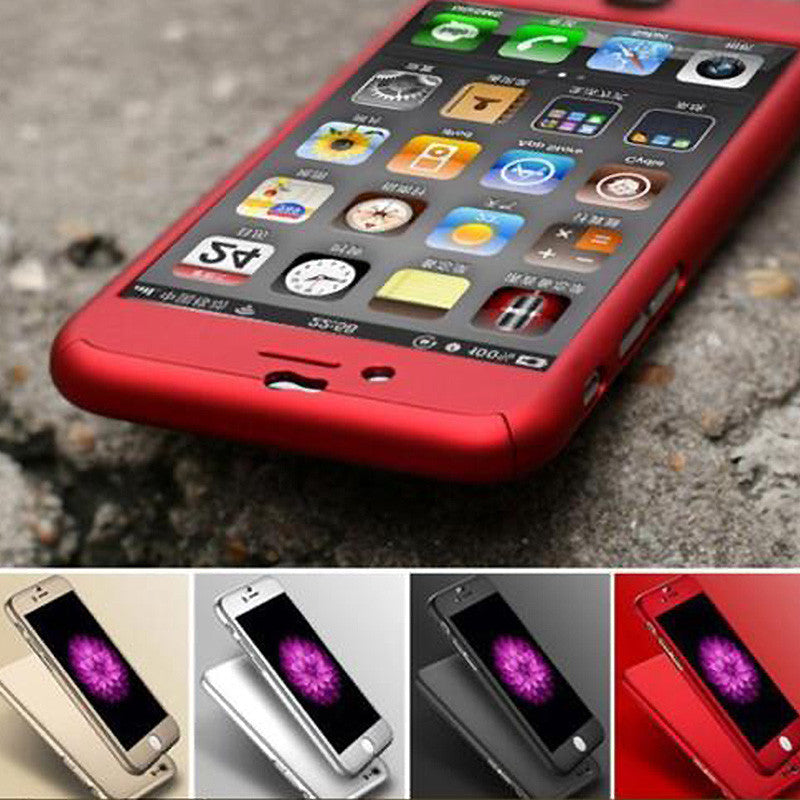 new concept 1793d 4f4ab 360 Degree Front Back Full Body Protective Skin Cases Caso for cover iPhone  6 Case iphone 6s funda 4.7