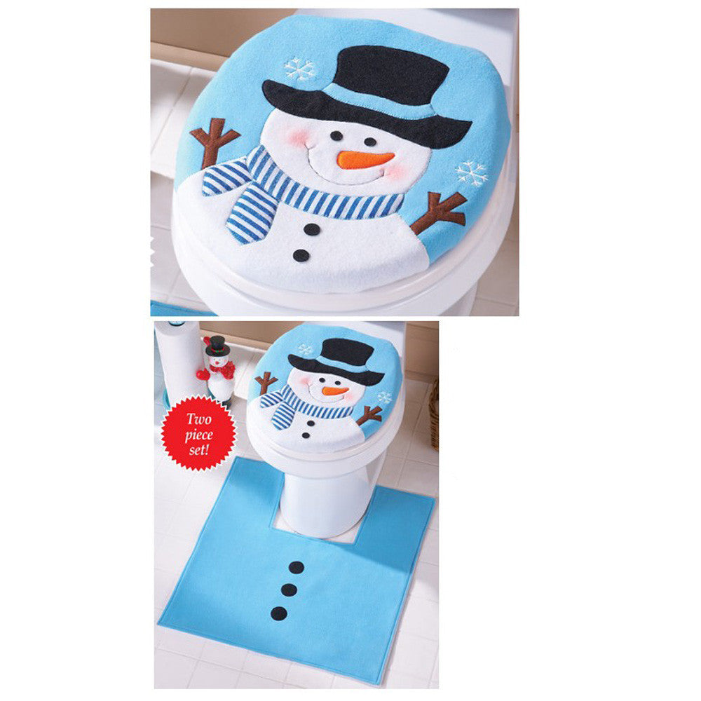 Amazing Christmas Decorations For Home Christmas Ts Snowman Toilet Seat Cover And Rug Bathroom Set Enfeites De Natal 1512 Pabps2019 Chair Design Images Pabps2019Com