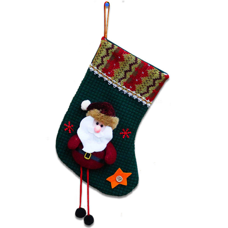 High Quality 1x Christmas Festival Decoration Santa Gift Stockings Children  Candy Gift Bag Christmas Tree Hanging Ornaments SD51