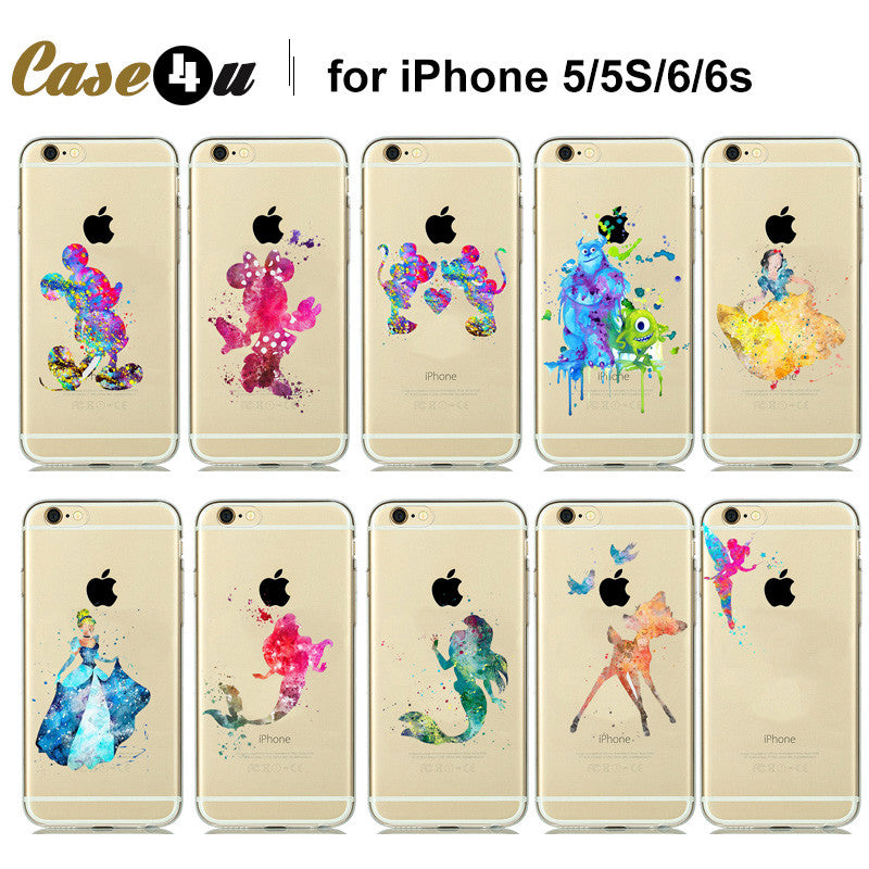 Amazing Beautiful Watercolor Art Design Transparent Soft Tpu Case For