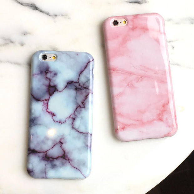 best loved 293b7 2cba0 Unique Pink Marble iPhone 5s 5se 6 6s Plus Case