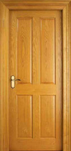 4 Panel White Oak Door