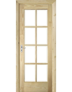 8 Pane Glazed Clear Pine Door