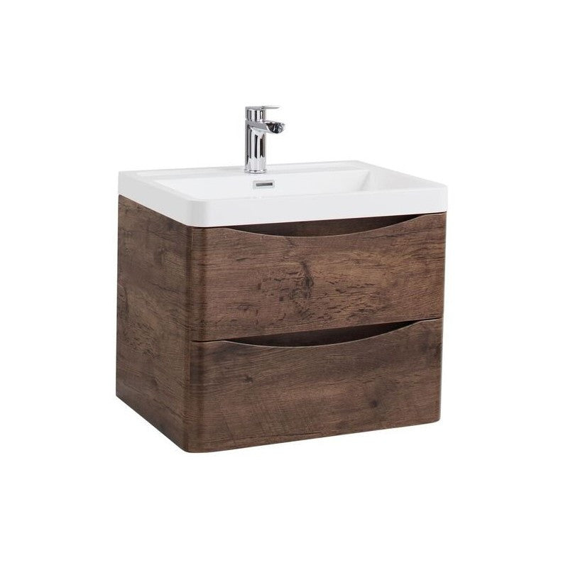 Bali Wall Mounted Basin Unit - Chestnut