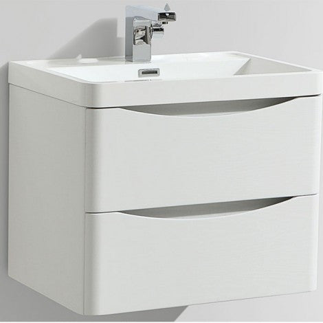 Bali Wall Hung Basin Unit - White Gloss