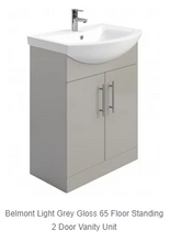 Load image into Gallery viewer, Belmont Light Grey Gloss Vanity + Basin