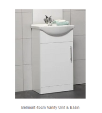 Load image into Gallery viewer, Belmont White Gloss Vanity + Basin