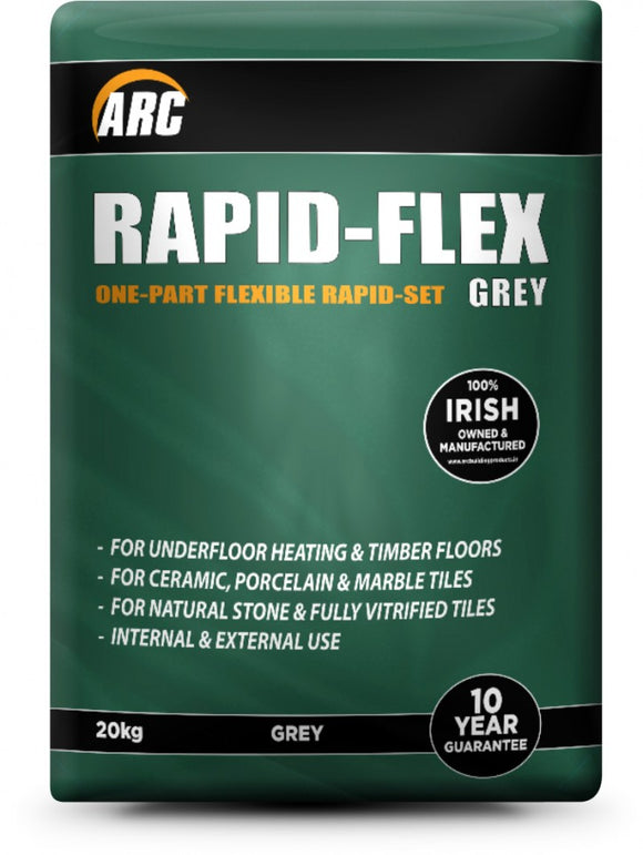 Arc 20kg Rapid Set Flexible Adhesive - Grey - All Interiors Maghera
