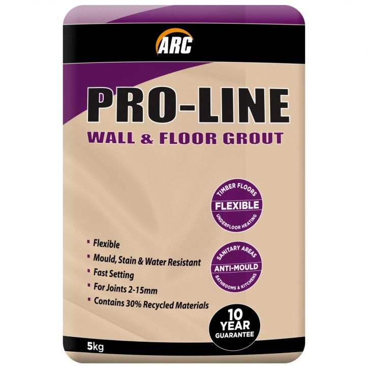 Arc Pro-line Grout 5kg - Charcoal