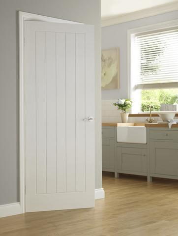 White Primed Newark Door