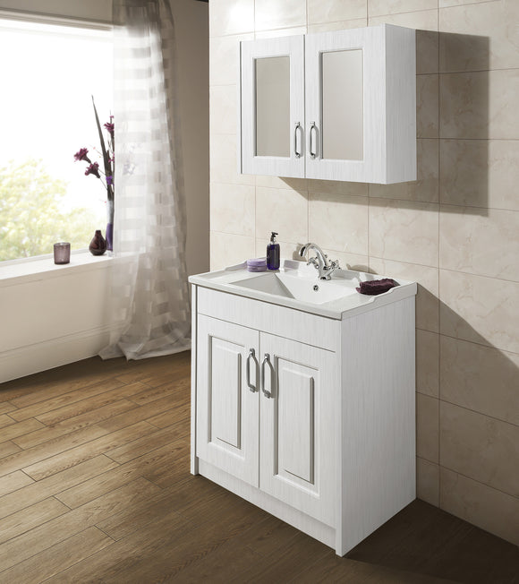 York 600mm White Ash Basin Unit